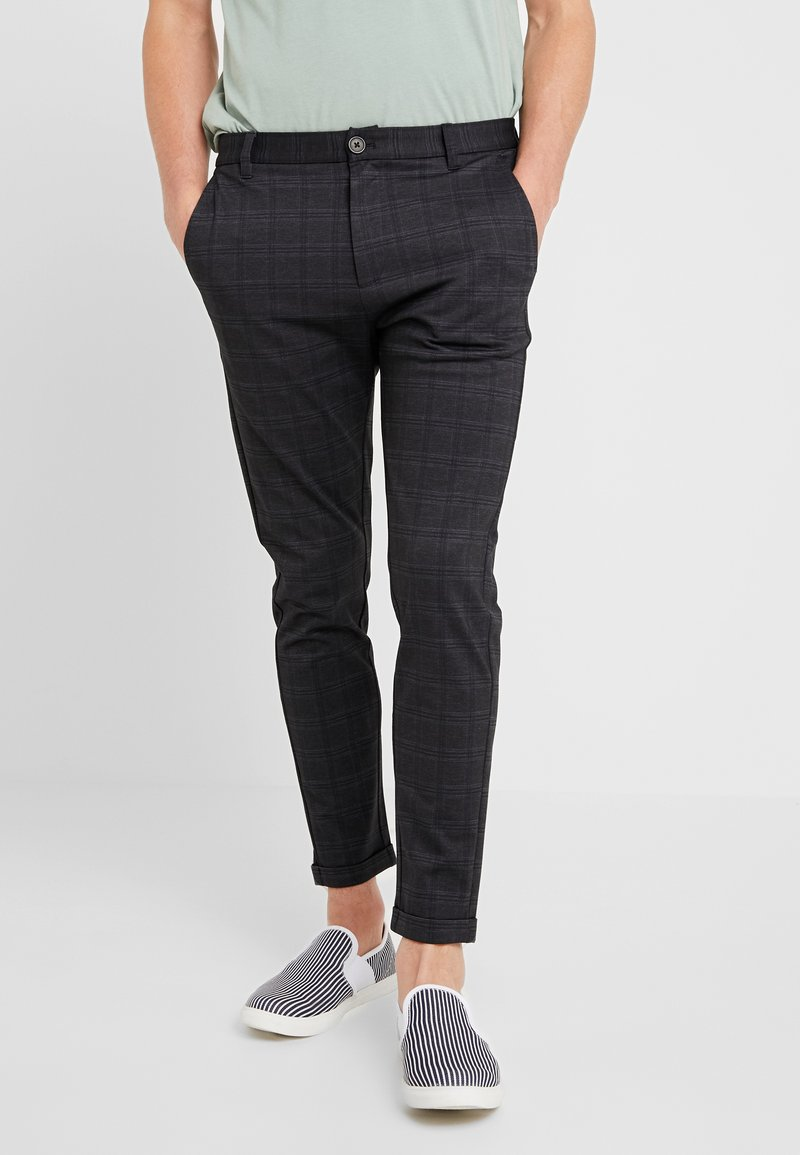 Lindbergh - CROPPED CHECK - Trousers - grey
