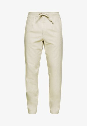 WIDE PANTS ELASTIC - Trousers - sand mix