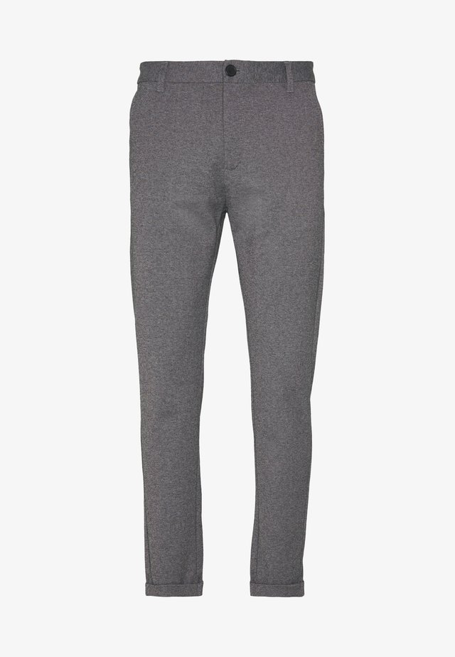 CROPPED PANTS - Chino kalhoty - grey mix
