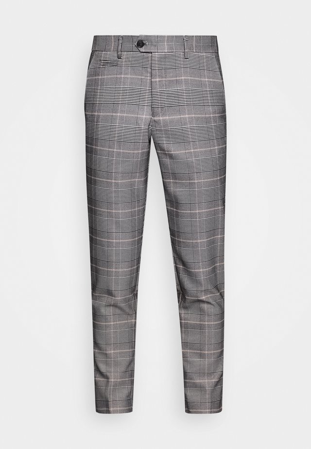 CHECKED PANTS - Pantalon classique - brown