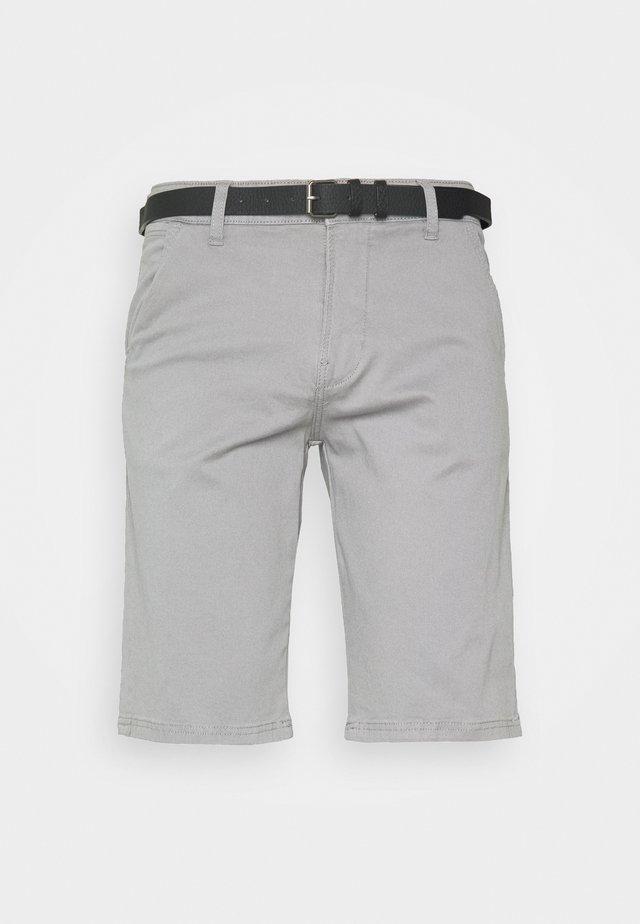 CLASSIC CHINO BELT - Shorts - silver