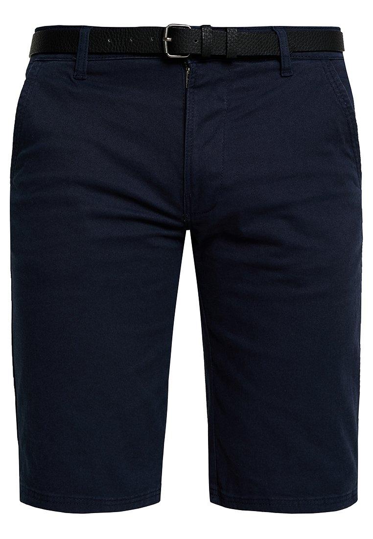 Lindbergh Classic Chino Belt - Shorts Navy