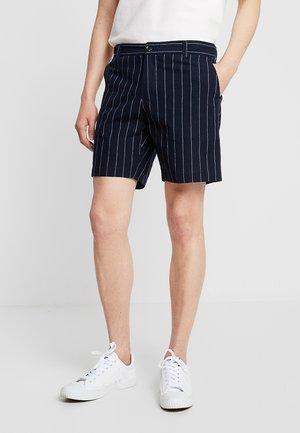 STRIPED - Shorts - dark blue