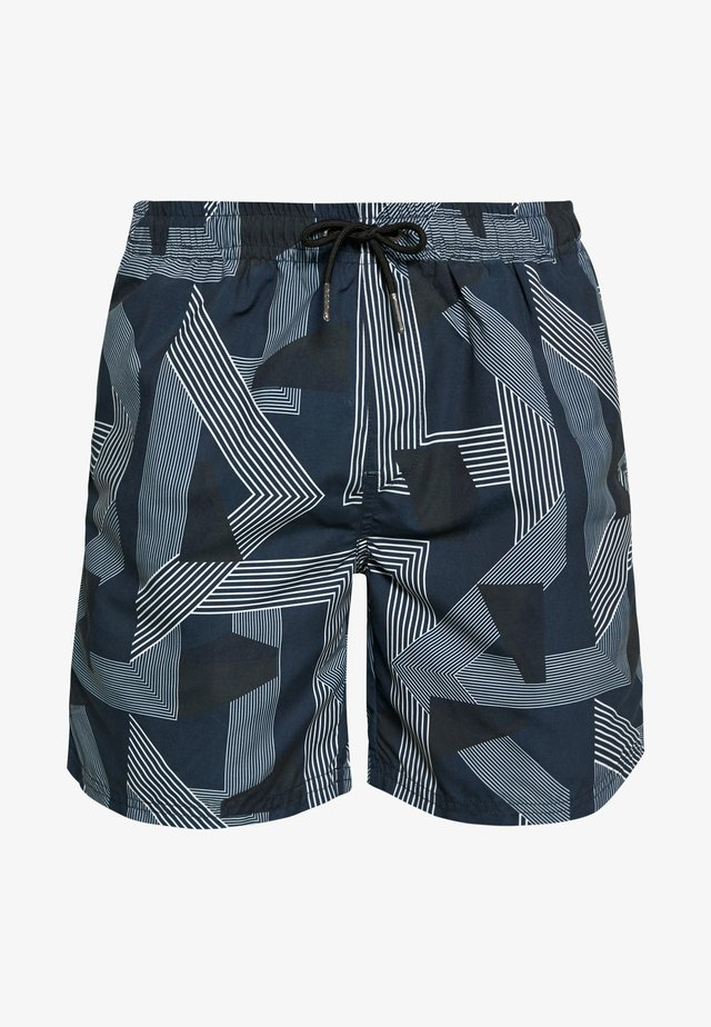 PRINTED SWIM - Swimming shorts - blue