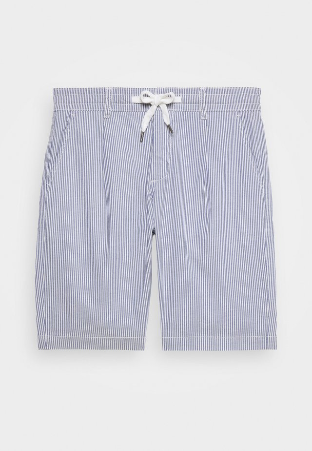 RELAXED SEERSUCKER - Shorts - blue
