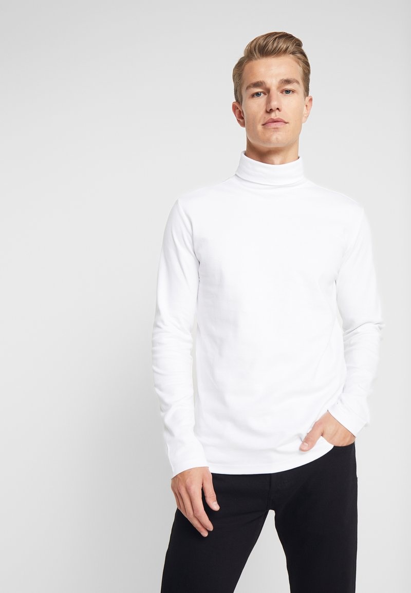 Lindbergh - TURTLE NECK TEE - Long sleeved top - white