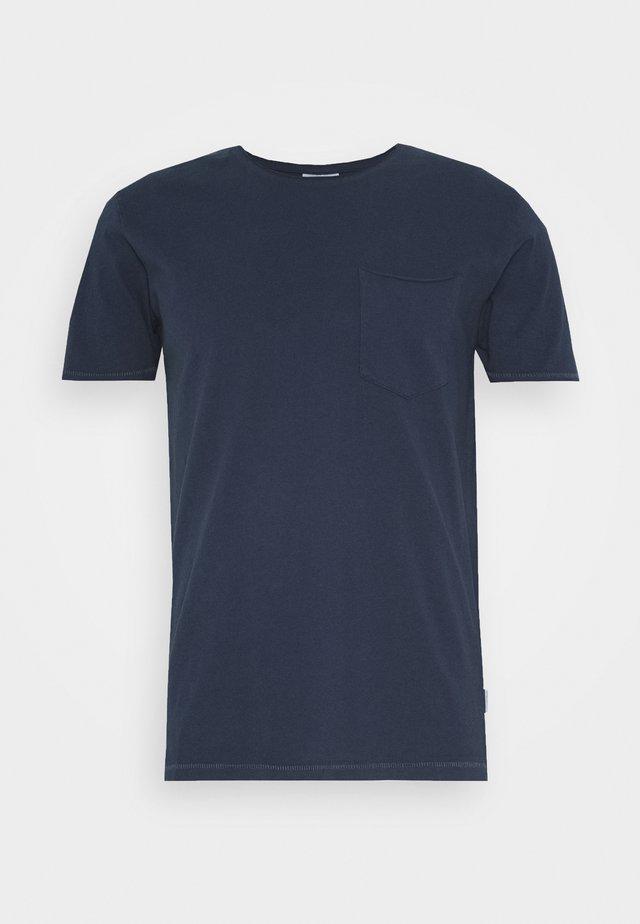 WASHED TEE - T-shirts basic - dark blue