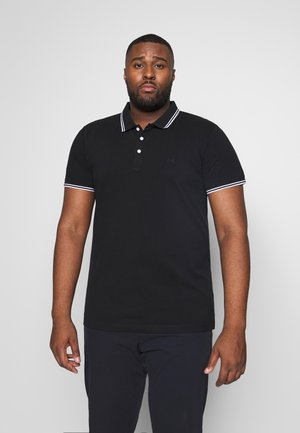CONTRAST PIPING - Polo shirt - black