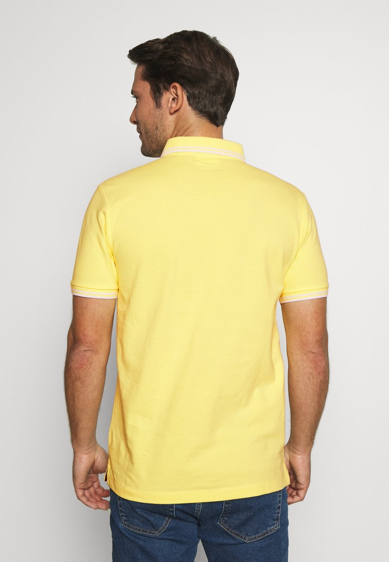 Lindbergh CONTRAST PIPING - Poloskjorter - pale yellow