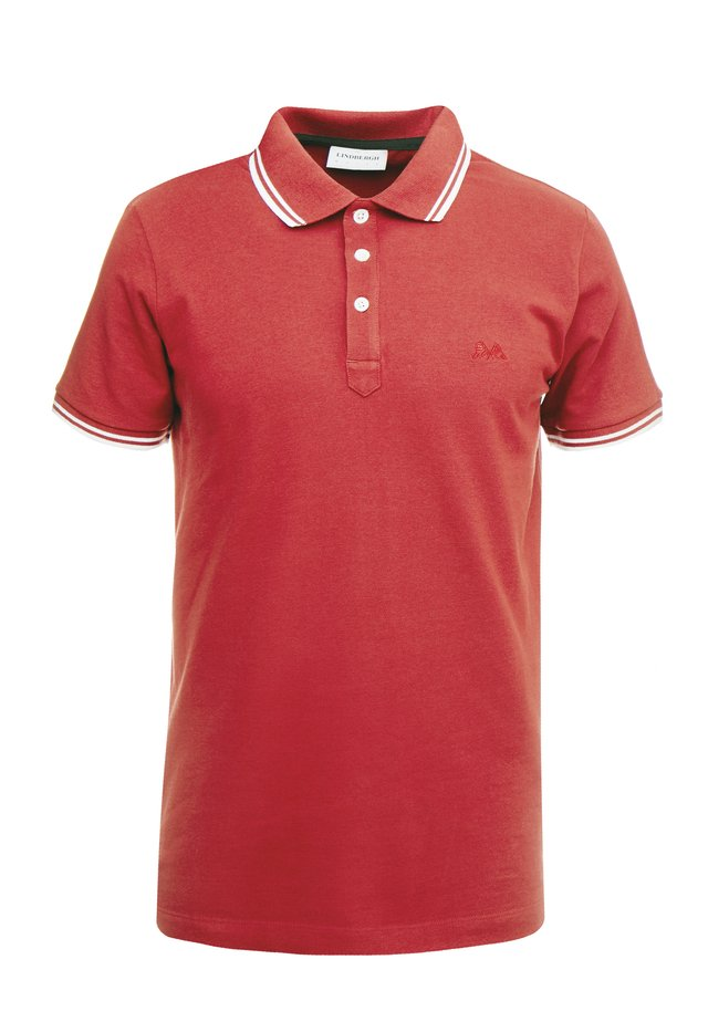CONTRAST PIPING - Poloshirt - red