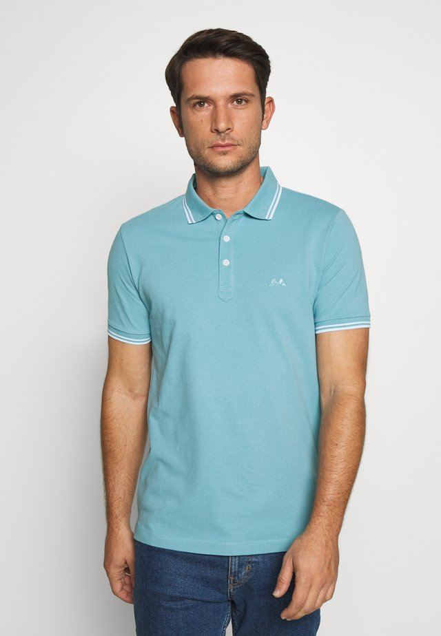 CONTRAST PIPING - Polo - blue arctic