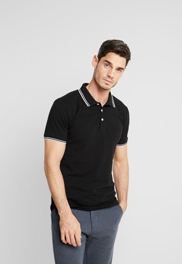 CONTRAST PIPING - Poloshirts - black