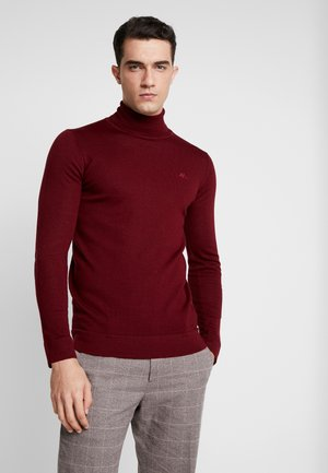 ROLL NECK - Strikkegenser - bordeaux