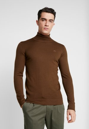 ROLL NECK - Pullover - brown