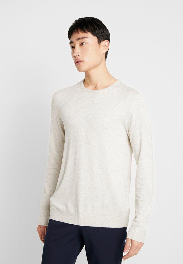 ROUND NECK - Stickad tröja - off white melange