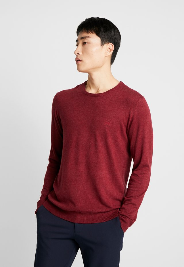 ROUND NECK - Neule - dusty red melange