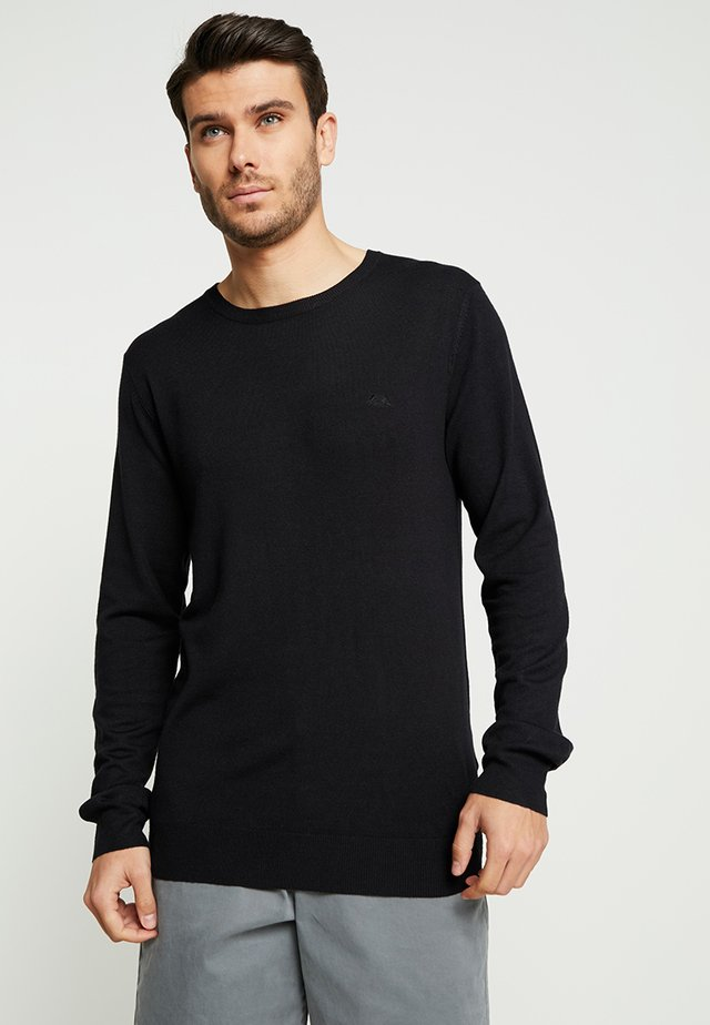 ROUND NECK - Stickad tröja - black