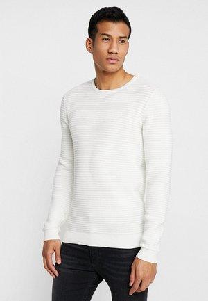 STRUCTURE - Stickad tröja - offwhite