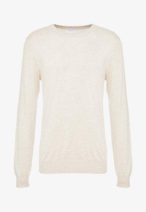 ROUND NECK  - Sweter - beige melange