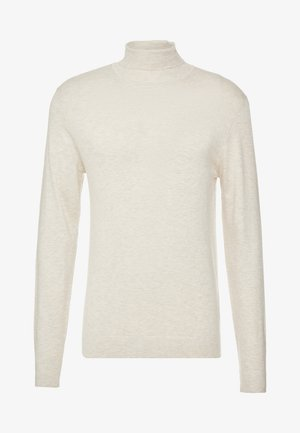 ROLL NECK - Jumper - beige melange