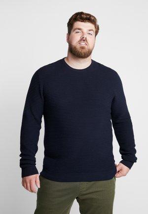 STRUCTURE  - Stickad tröja - dark blue