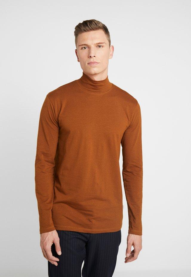 TURTLE NECK TEE - Long sleeved top - light brown