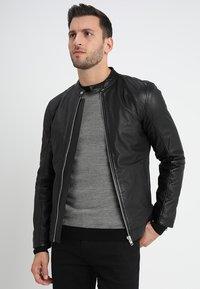 Lindbergh - Leather jacket - black - 0