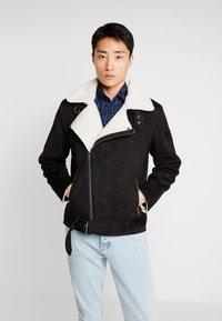 Lindbergh - BIKER JACKET - Faux leather jacket - black - 0