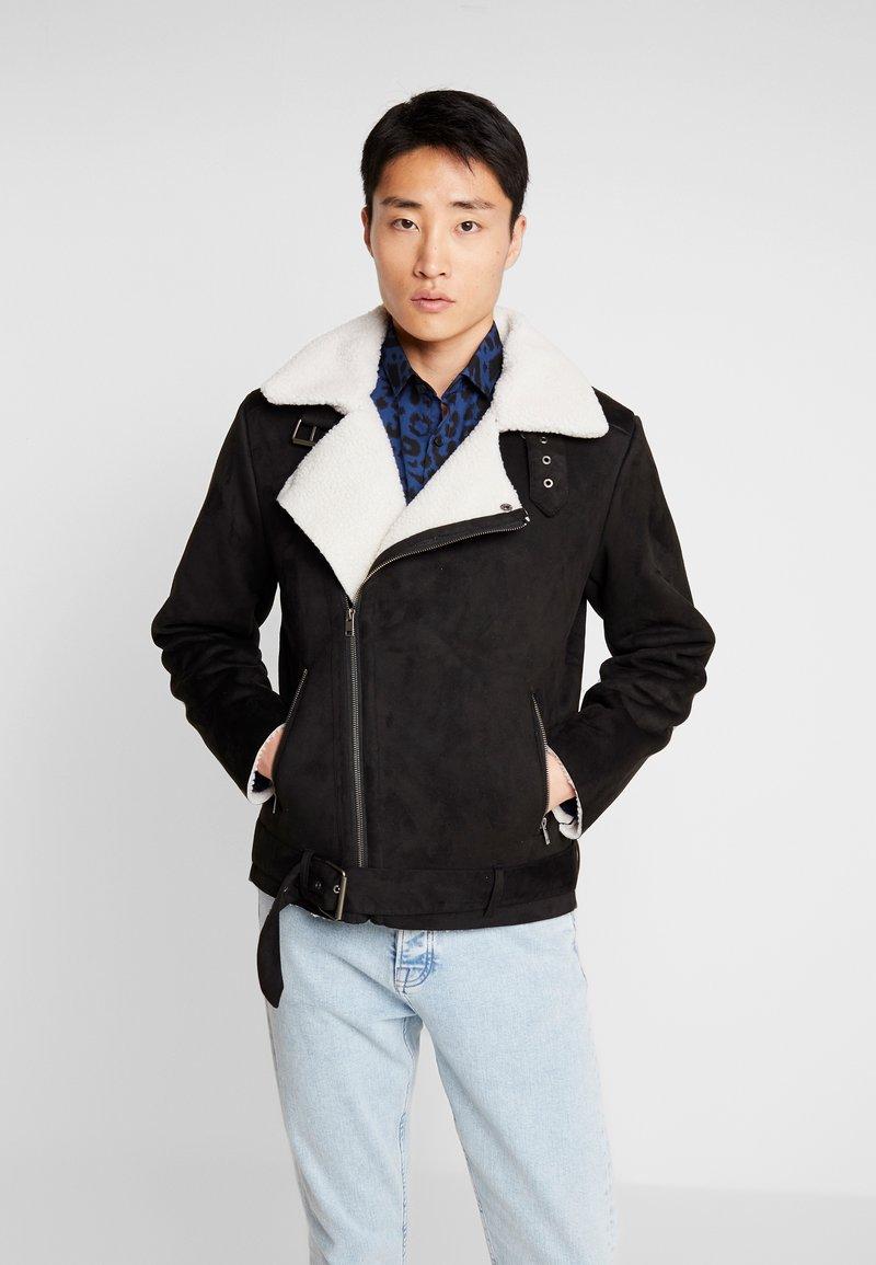 Lindbergh - BIKER JACKET - Faux leather jacket - black