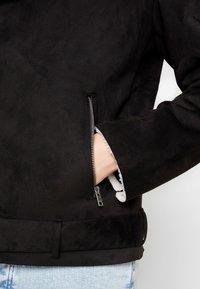 Lindbergh - BIKER JACKET - Faux leather jacket - black - 3