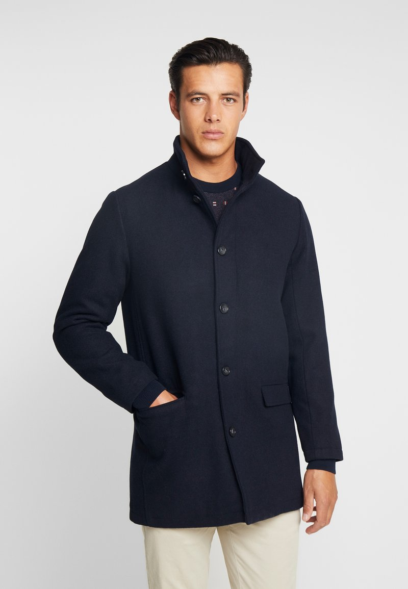 Lindbergh - COAT STAND UP COLLAR - Manteau classique - navy