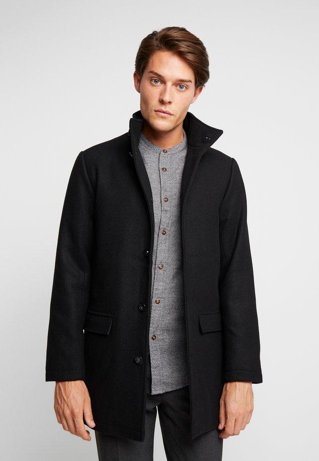 COAT STAND UP COLLAR - Wollmantel/klassischer Mantel - black
