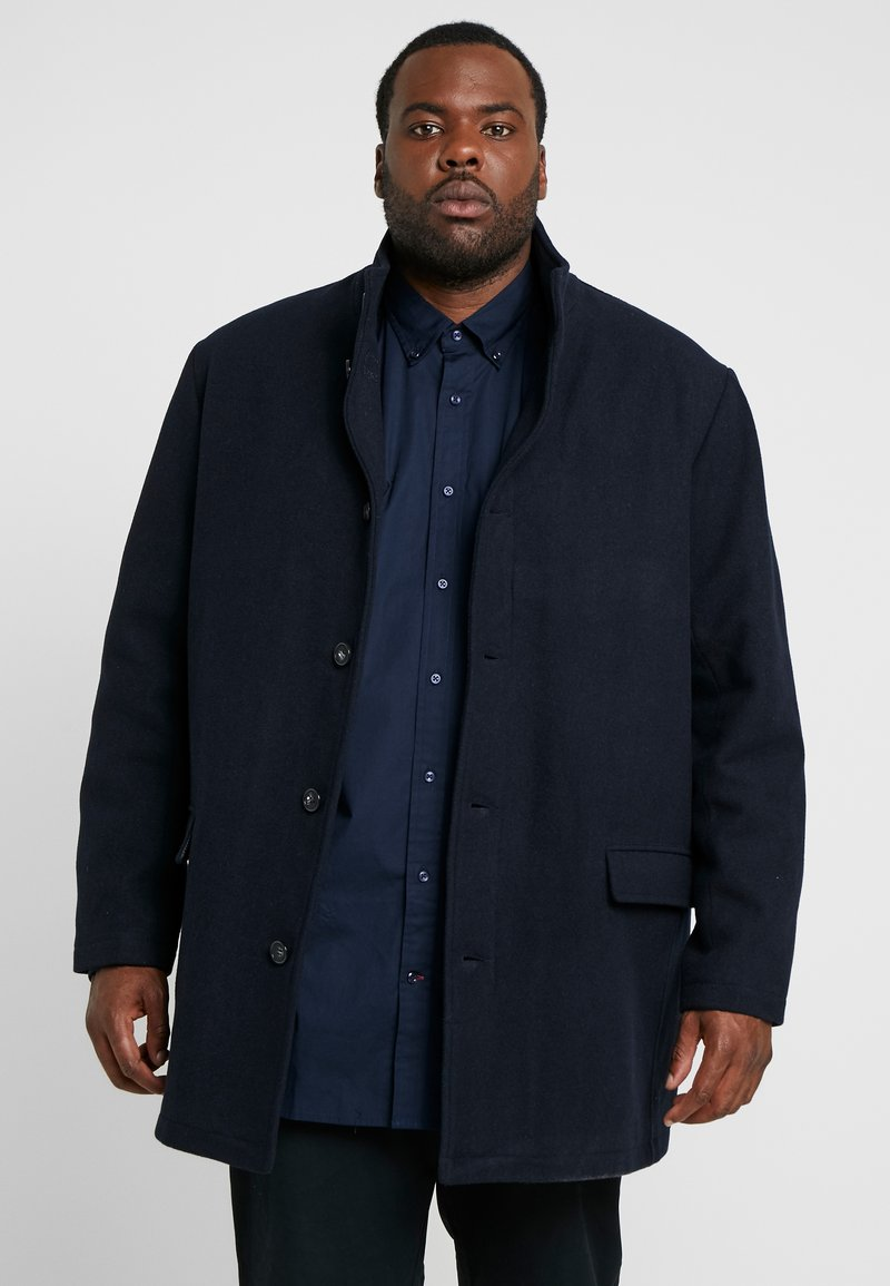 Lindbergh - COAT STAND UP COLLAR - Classic coat - navy