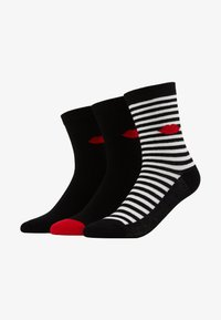Lulu Guinness - CLASSIC SOCKS 3 PACK - Calcetines - black/red - 1