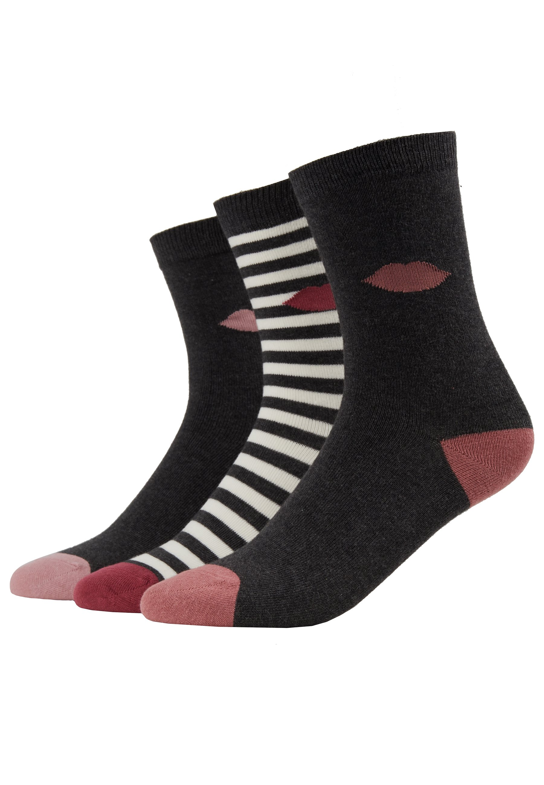 Lulu Guinness CLASSIC SOCKS 3 PACK - Socks - multi-coloured