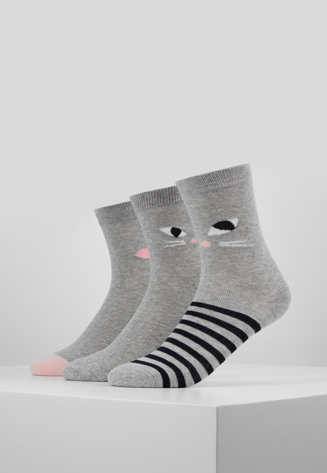 KOOKY CAT SOCKS 3 PACK - Sukat - multi
