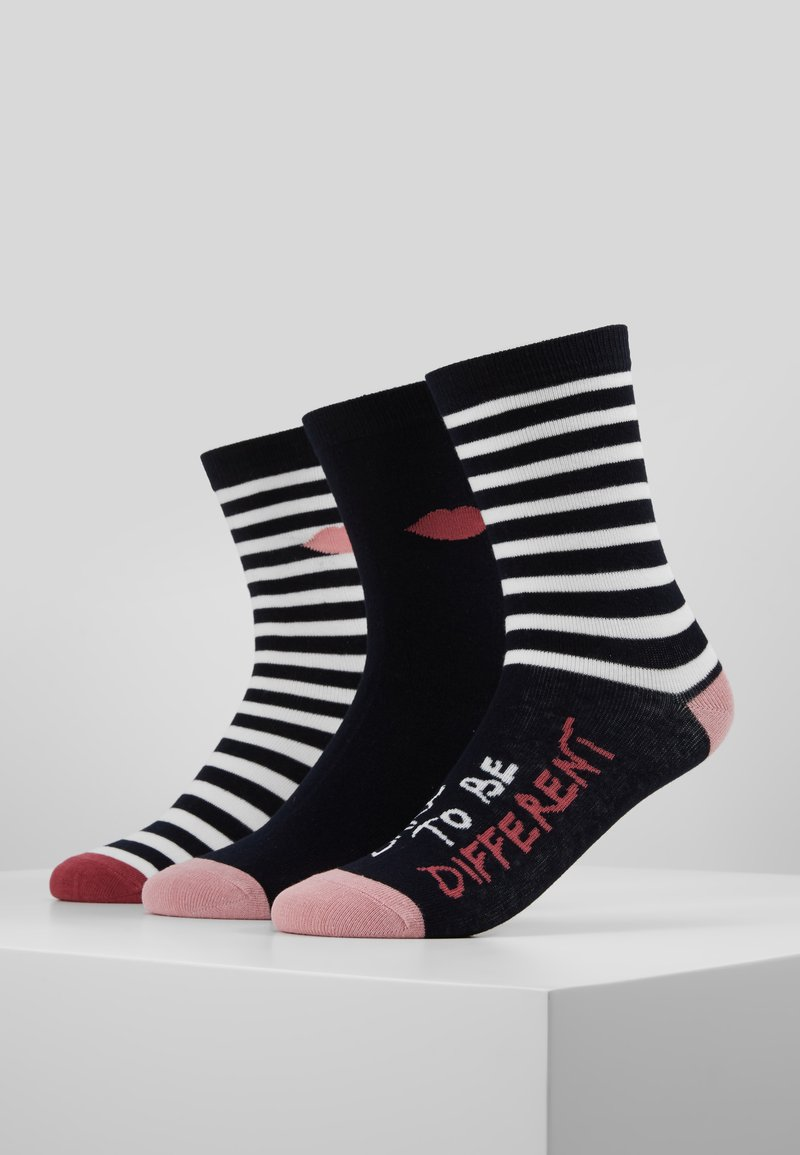 Lulu Guinness - STRIPEY QUOTE SOCKS 3 PACK - Sokken - multi