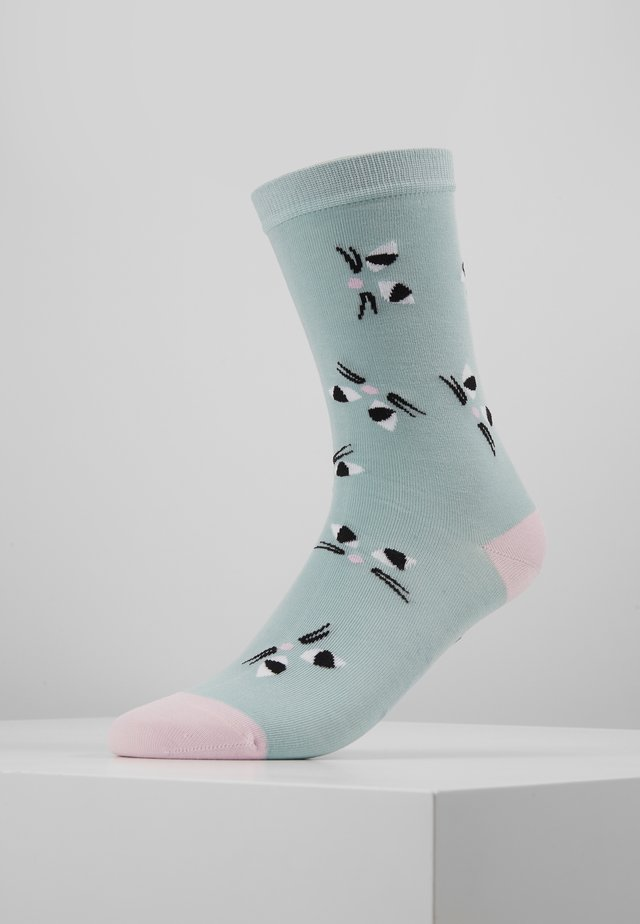 KOOKY CAT SOCKS - Socks - aqua
