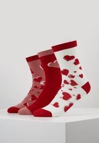 Lulu Guinness - HEARTS SOCKS 3 PACK - Socks - multi - 0