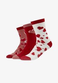 Lulu Guinness - HEARTS SOCKS 3 PACK - Socks - multi - 1
