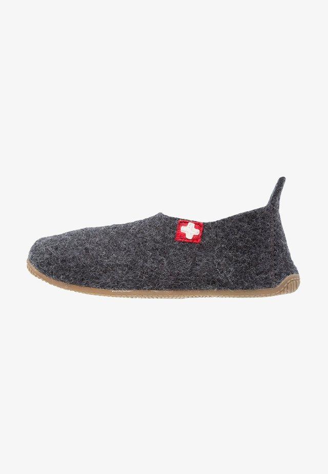 SLIPPER MIT SCHWEIZER KREUZ - Pantoffels - anthrazit