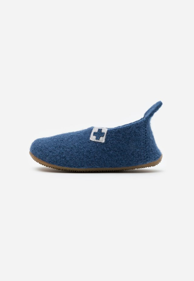 SLIPPER MIT SCHWEIZER KREUZ - Tofflor & inneskor - midnight navy