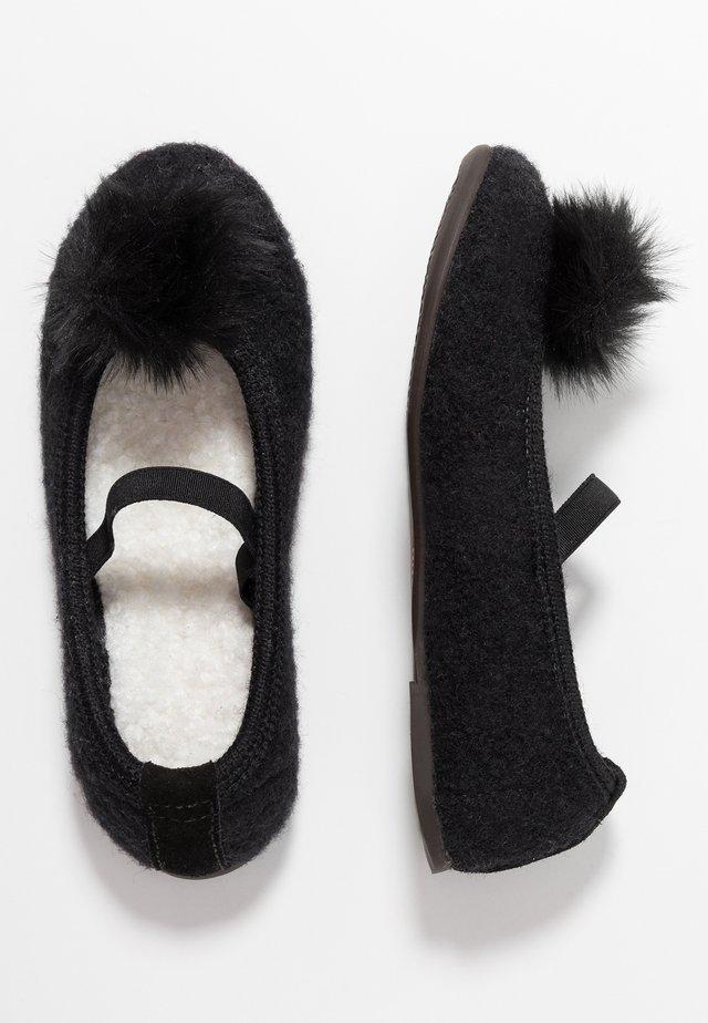 Pantoffels - schwarz