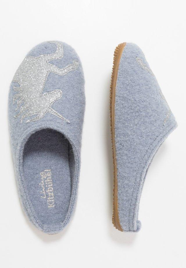 PANTOFFEL MIT EINHORN - Slippers - pearl blue