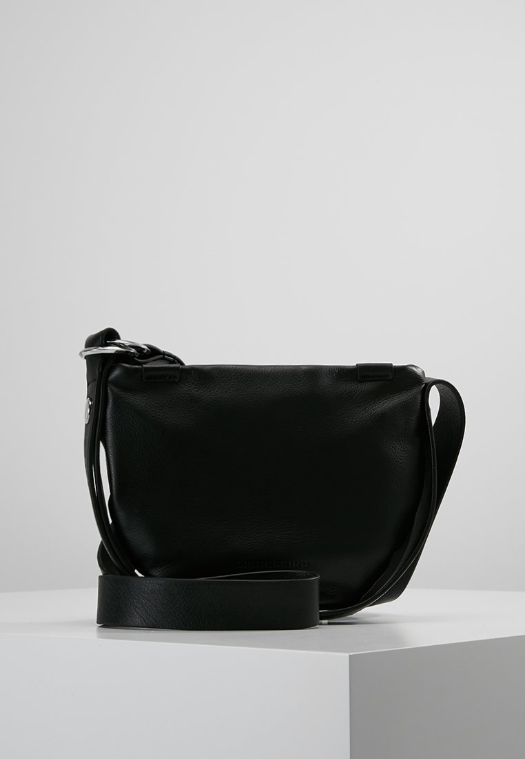 Liebeskind Berlin - RING RING CROSSBODY SMALL - Umhängetasche - black