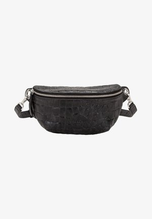 MIT KROKOPRÄGUNG - Bum bag - black