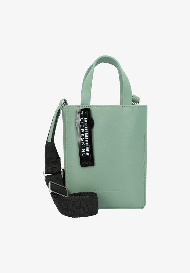 PAPER BAG XS HANDTASCHE LEDER 13 CM - Borsa a mano - sage