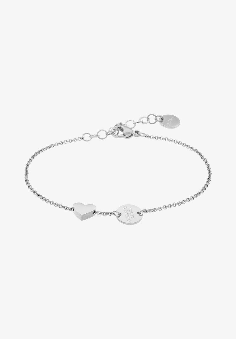 Liebeskind Berlin - ARMKETTCHEN MIT ANHÄNGERN EDELSTAHL 20CM - Bracelet - silver-coloured