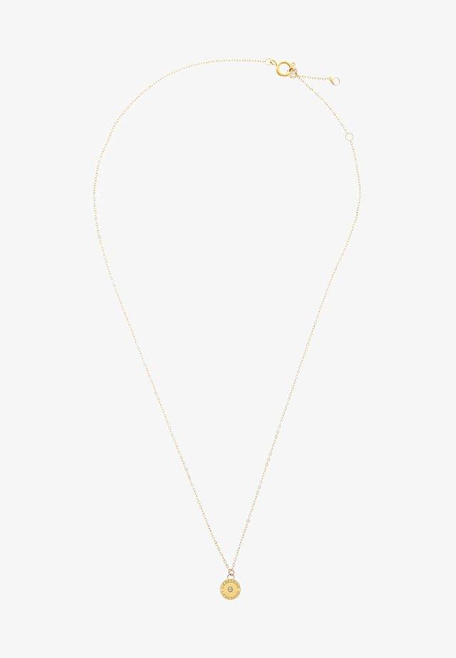 MIT ANHÄNGER EDELSTAHL  - Necklace - gold-coloured