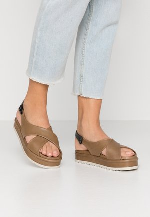 RAFFA - Platform sandals - twister musk